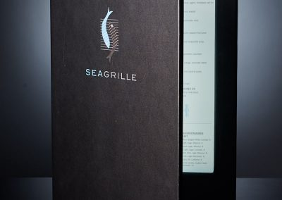 LED Backlit Menu - Seagrille Restaurant