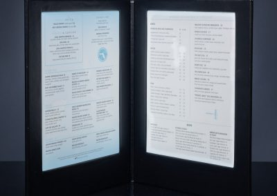 LED Menu Light - Seagrille Restaurant of Florida