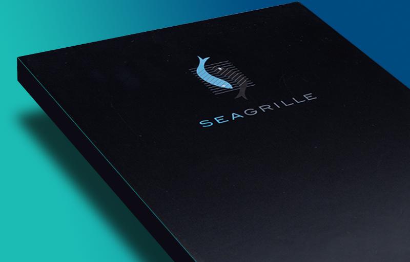 Seagrille Restaurant of Florida - LED Backlit Menu Covers manufactured by www.ledmenulight.com