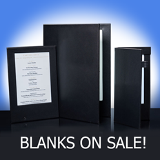 LED MENUS blanks- on sale